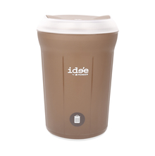 Idee 11 Litre Swing Top Round Dustbin - @home by Nilkamal, Brown