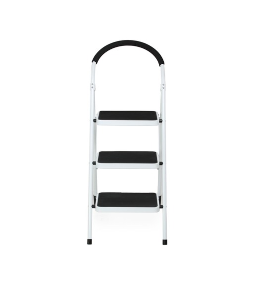 Nilkamal Vesta 3 Step Ladder, Black White