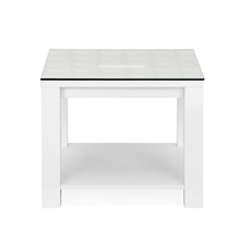 Theia High Gloss Side Table - @home by Nilkamal, White