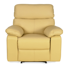 Focus 1 Seater Sofa with Manual Recliner - @home by Nilkamal, Beige