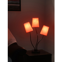 Mushroom 3 Shade 18X82CM Table Lamp, Red