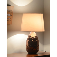 Lotus Gleam 30X30X48CM Large Table Lamp, Copper
