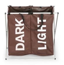 Dark and Light Laundry Bag - @home by Nilkamal, Brown