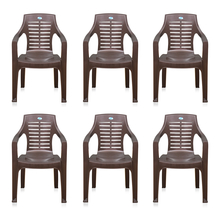 Nilkamal CHR6020 Chair Set of 6 - Weather Brown