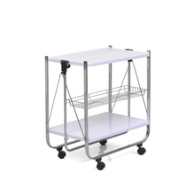 Keev Folding Serving Cart - @home by Nilkamal,  white