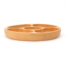 Bamboo 5 Section Chip & Dip Platter - @home by Nilkamal, Brown