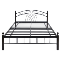 Nimbo Queen Bed without Storage @home by Nilkamal, Black