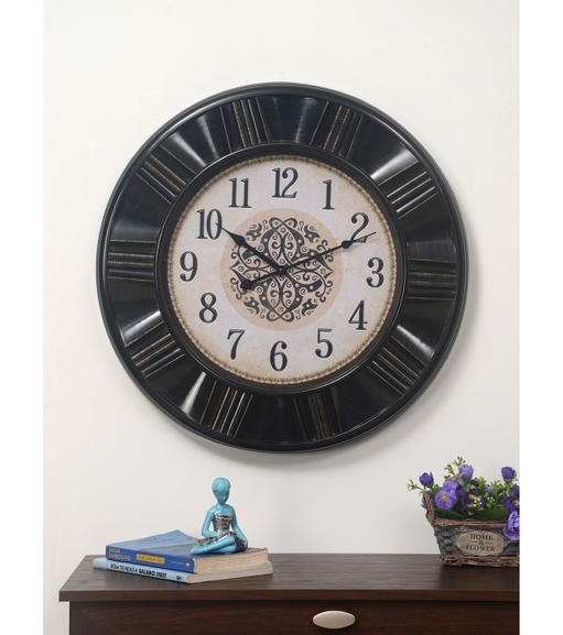 Antique Mystique Wall Clock - @home by Nilkamal, Bronze