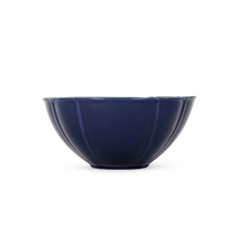 Solid Stoneware Serving Bowl, Indigo