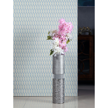 Cylindrical Tall Vase, Silver