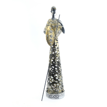 Tribal Large LED Warrior Showpiece - @home by Nilkamal, Gold