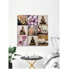 3D Budha Picture Frame Collection of 4 - @home By Nilkamal, Pink