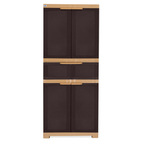 Nilkamal Freedom Cabinet with 1 Drawer Center - Weather Brown & Biscuit
