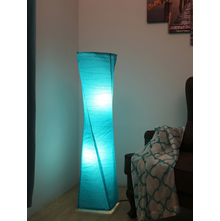 Twister Paper Floor Lamp, Sea Green