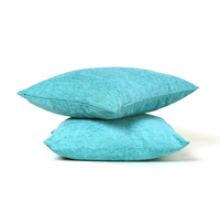 Moshi 40 cm x 40 cm Cushion Cover Set of 2 - @home by Nilkamal, Sea Green