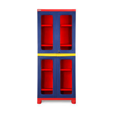 Nilkamal FB3 Freedom Cupboard - Pepsi Blue, Bright Red, Yellow