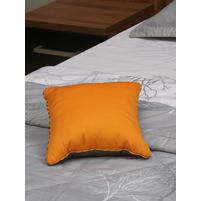 Waffle Reversible 30 x 30 cm Filled Cushion, Orange & Grey