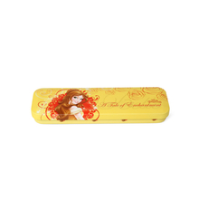 Belle Metal Rectangle Pencil Box, Mustard