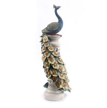 LED Dancing Peacock Tower Showpiece - @home by Nilkamal, Gold