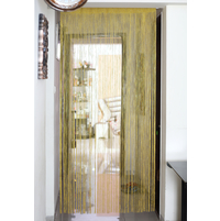 Thread 100 cm x 229 cm Door Curtain - @home by Nilkamal, Gold