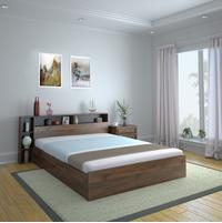 Torrie King Bed With Headboard & Box Storage, Black
