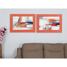 Abstract 55X75 CM Set of 2 Painting, Orange