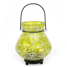 Mosaic Matki Hanging Lantern - @home by Nilkamal, Green