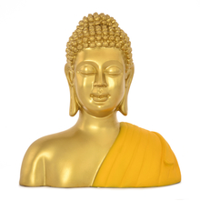 Buddha Bust Shrine Showpiece -@home by Nilkamal, Yellow