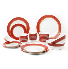 Laopala Sovrana Ameerah 33 Pieces Dinner Set, Red