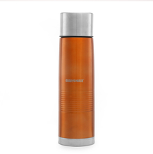 Bergner Stainless Steel Vacuum Flask with Bag - Orange