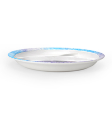 Frozen Round 3 Section Dinner Plate - @home by Nilkamal, Multicolor