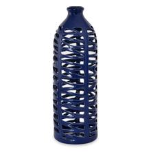 Homely Ink Net Vase - @home by Nilkamal, Indigo & White