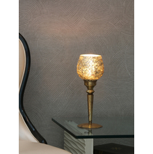 Mosaic Rectangular Candle Holder, Gold