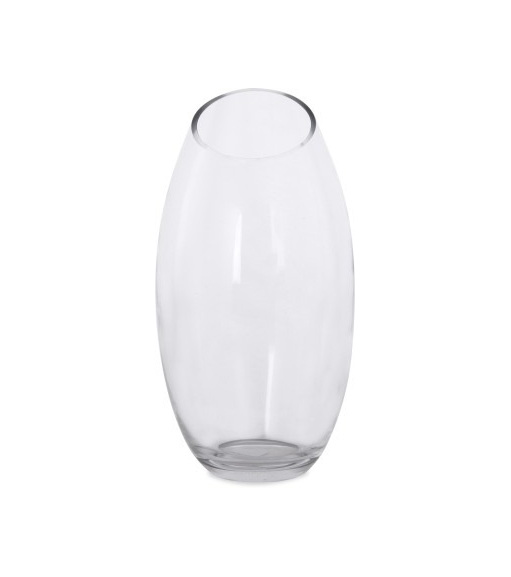 Slant Vase - @home by Nilkamal, Clear