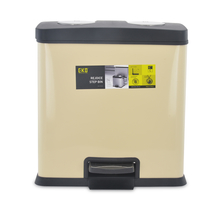 Rejoice 24 Litre Step Dustbin - @home by Nilkamal, Beige