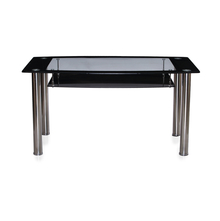 Nilkamal Jasmine 6 Seater Dining Table,  black