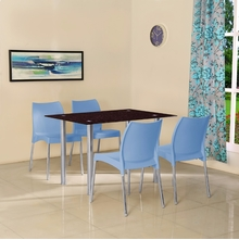 Napoli 4 Seater Dining Set - @home by Nilkamal, Blue