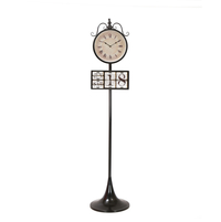 Time & Date Floor Clock - @home by Nilkamal, Black