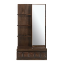David New Dresser with Mirror - @home by Nilkamal, Dark walnut