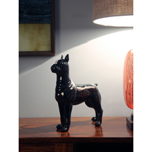 Standing Dog Showpiece, Black & White