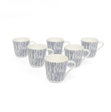 Lino Tea Cup Set of 6 - @home by Nilkamal, Indigo
