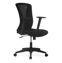 Nilkamal Lexa Mid Back Office Chair, Black
