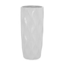 Snow 14.5 cm x 33.5 cm Vase - @home by Nilkamal, White