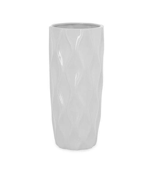 Snow 14.5 cm x 33.5 cm Vase - @home by Nilkamal, White