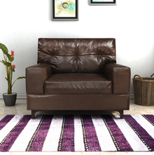 Savio 1 Seater Sofa, Chestnut