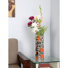 Flowers Delight Vase Geom, Orange