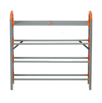 Nilkamal Redley 4 Layer Iron Shoe Rack, Orange