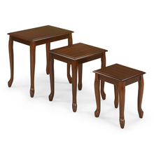 Zane Nest Table Set of 3 - Walnut