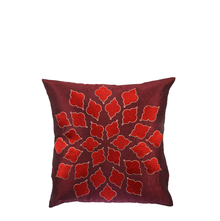 Jharokha 40 cm x 40 cm Cushion Cover Set of 2 - @home by Nilkamal, Maroon