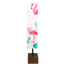 Flamingo Fabric & Wood Floor Lamp - @home by Nilkamal, Multicolor
